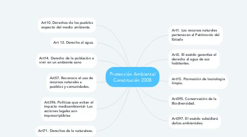Mind Map: Protección Ambiental Constitución 2008