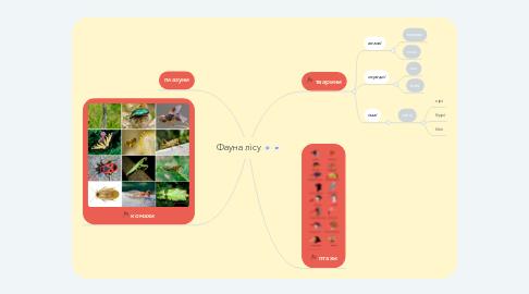 Mind Map: Фауна лісу