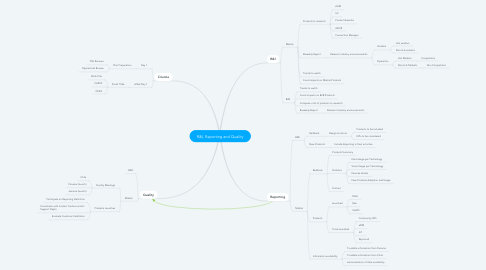 Mind Map: R&I, Reporting and Quality