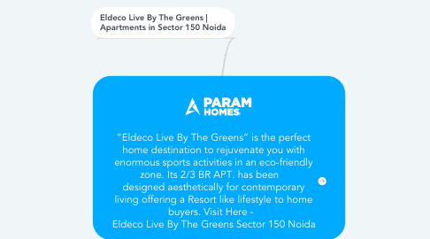 """Mind Map: """"Eldeco Live By The Greens"""" is the perfect home destination to rejuvenate you with enormous sports activities in an eco-friendly zone. Its 2/3 BR APT. has been    designed aesthetically for contemporary living offering a Resort like lifestyle to home buyers. Visit Here -   Eldeco Live By The Greens Sector 150 Noida"""