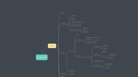 Mind Map: Programa
