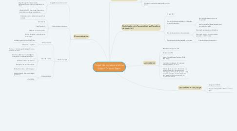 Mind Map: Projet de communication Solann Dream Team