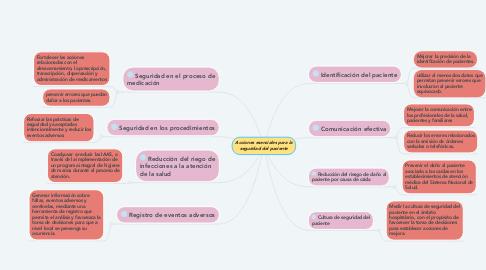 Mind Map: Acciones esenciales para la seguridad del paciente