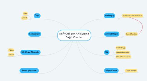 Mind Map: Saf (Öz) Şiir Anlayışına Bağlı Olanlar