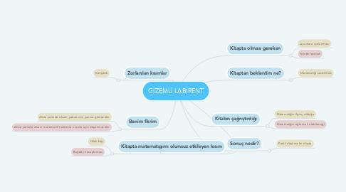 Mind Map: GİZEMLİ LABİRENT
