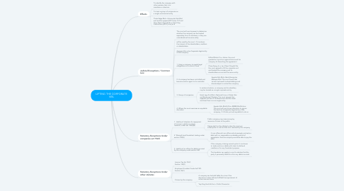 Mind Map: LIFTING THE CORPORATE VEIL