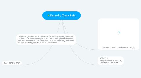 Mind Map: Squeaky Clean Sofa