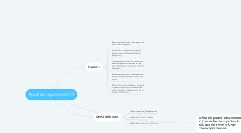 Mind Map: Apparato tegumentario (1)