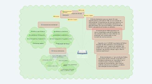 Mind Map: NOÇÕES GERAIS DE DIREITO AMBIENTAL