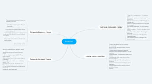 Mind Map: FORESTS