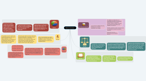 Mind Map: Matriz de decisiones.
