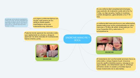 Mind Map: SINDROME MANO PIE Y BOCA