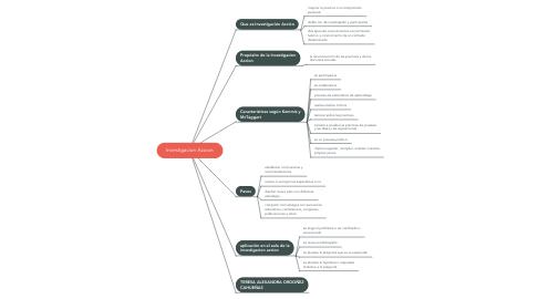 Mind Map: Investigacion Accion