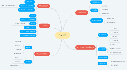 Mind Map: SALUD