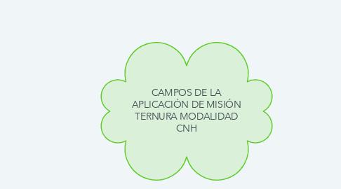 Mind Map: CAMPOS DE LA APLICACIÓN DE MISIÓN TERNURA MODALIDAD CNH