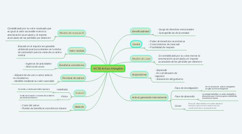 Mind Map: NIC 38: Activos Intangibles