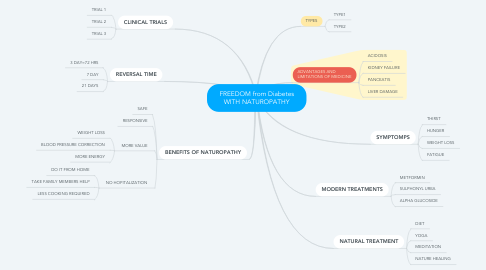 Mind Map: FREEDOM from Diabetes WITH NATUROPATHY