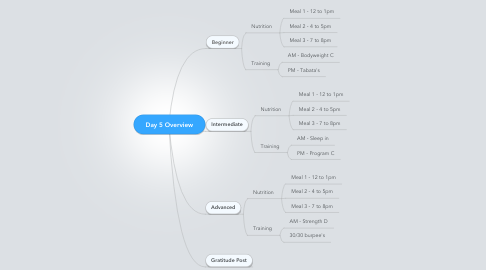 Mind Map: Day 5 Overview