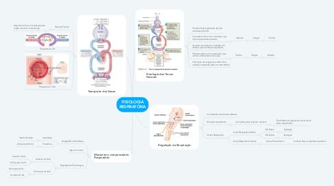 Mind Map: FISIOLOGIA RESPIRATÓRIA