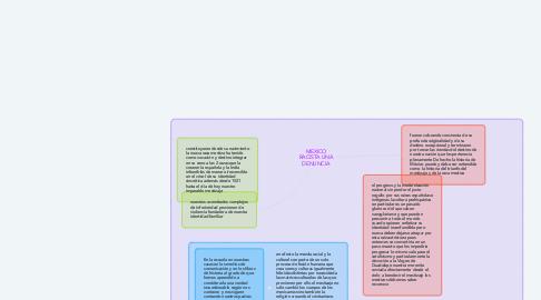 Mind Map: MEXICO RACISTA UNA DENUNCIA
