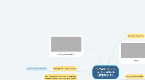 Mind Map: TREMATODOS  DE IMPORTANCIA VETERINARIA