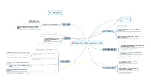 Mind Map: Riesgos de la Implementación de un SGI