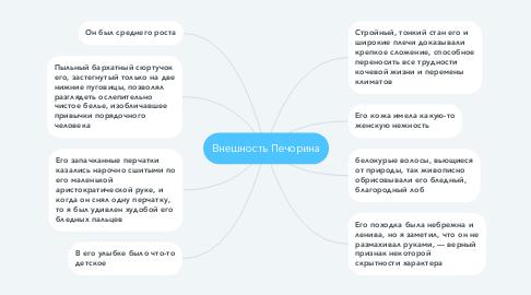 Mind Map: Внешность Печорина