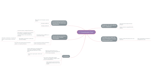 Mind Map: 7- Considerações Finais