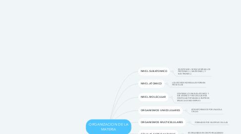 Mind Map: ORGANIZACION DE LA MATERIA