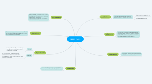 Mind Map: SERES VIVOS
