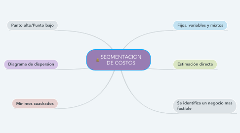 Mind Map: SEGMENTACION DE COSTOS
