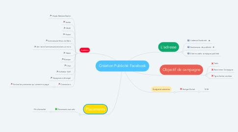 Mind Map: Création Publicité Facebook