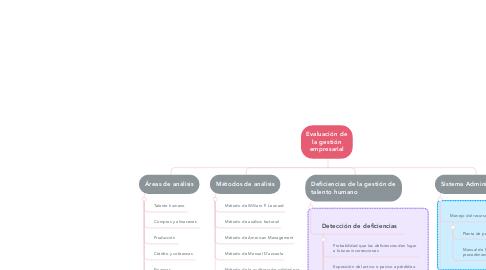 Mind Map: Evaluación de la gestión empresarial