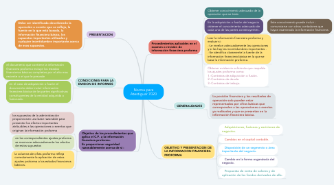 Mind Map: Norma para Atestiguar 7020