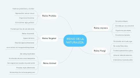 Mind Map: REINO DE LA NATURALEZA.