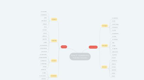 Mind Map: Tema 3 : ciudadanía y mundos virtuales