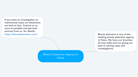 Mind Map: Bharat Detective Agency In Patna
