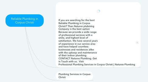 Mind Map: Reliable Plumbing in Corpus Christi