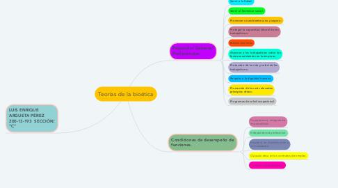 Mind Map: Código Internacional de Ética para Profesionales de la Salud ocupacional.