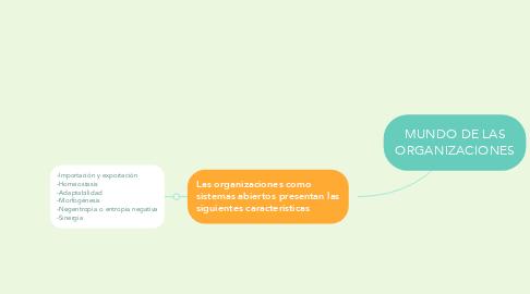 Mind Map: MUNDO DE LAS ORGANIZACIONES