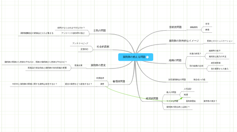 Mind Map: 薬剤師の抱える問題