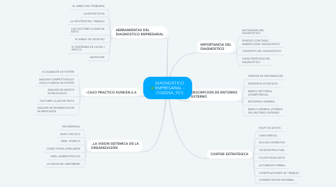 Mind Map: DIAGNOSTICO EMPRESARIAL - (102025A_951)