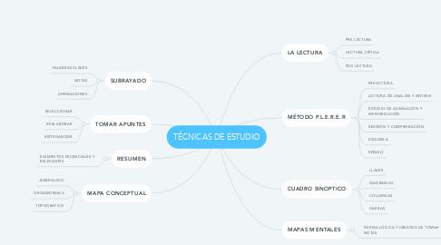 Mind Map: TÉCNICAS DE ESTUDIO