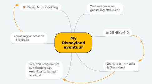 Mind Map: My Disneyland avontuur