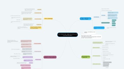 Mind Map: LOS PRINCIPIOS  PARA UNA ETICA DE LAS PROFESIONES
