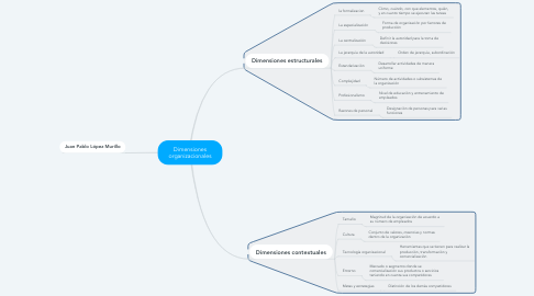 Mind Map: Dimensiones organizacionales