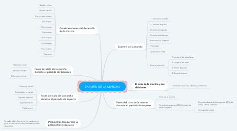 Mind Map: EXAMEN DE LA MARCHA