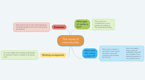 Mind Map: The course of interculturality