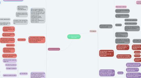 Mind Map: Plan Sectorial de Salud 2020-2024