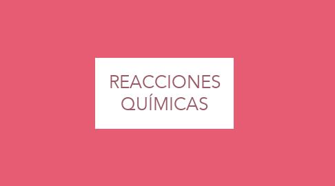 Mind Map: REACCIONES QUÍMICAS